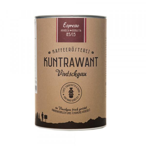 Espresso 85% Arabica 15% Robusta macinato Bio - Kuntrawant