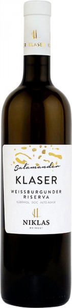 Pinot bianco Riserva Klaser Salamander 2016 - Weingut Niklas
