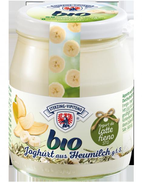 Banane Vollmilchjoghurt aus Heumilch Bio - Milchhof Sterzing