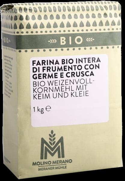 Weizenvollkornmehl Bio mit Getreidekeim - Meraner Mühle