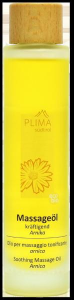 Massageöl Arnika kräftigend Bio - Plima Südtirol