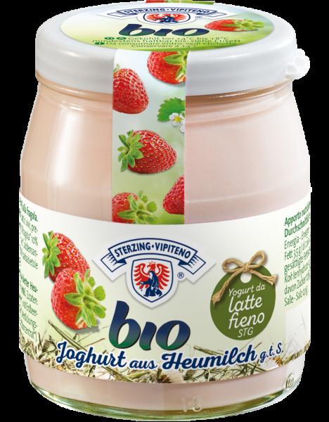 Fragola Yogurt intero al latte fieno Bio - Milchhof Sterzing