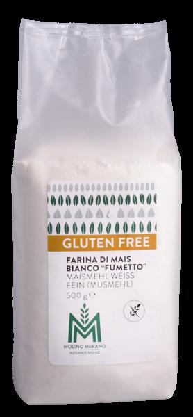 Farina di mais bianco senza glutine - Meraner Mühle