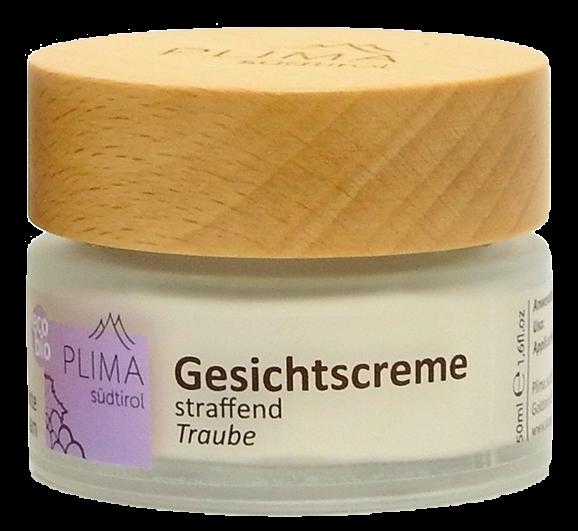 Gesichtscreme Traube straffend Bio - Plima Südtirol