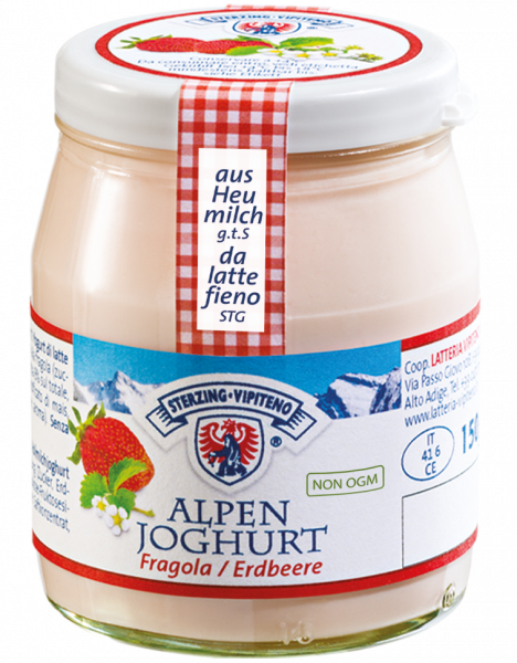 Fragola Yogurt delle montagne - Milchhof Sterzing
