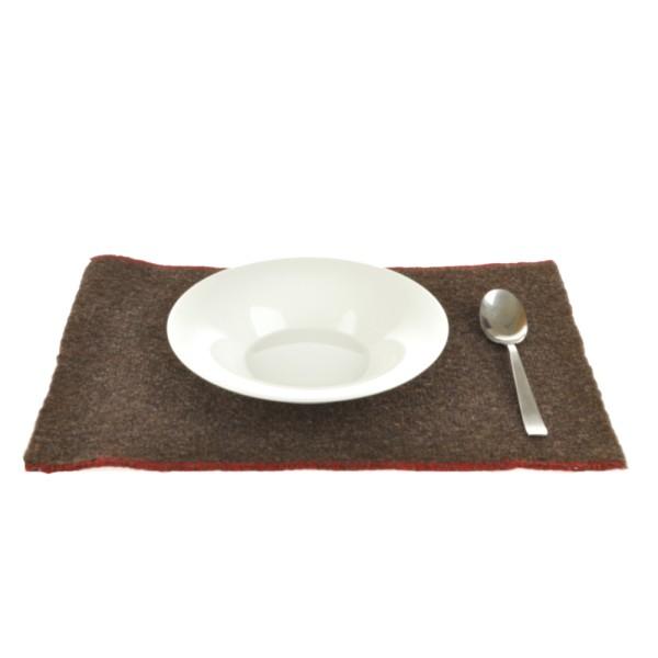 Tovaglietta in lana marrone scuro - Pur Manufactur
