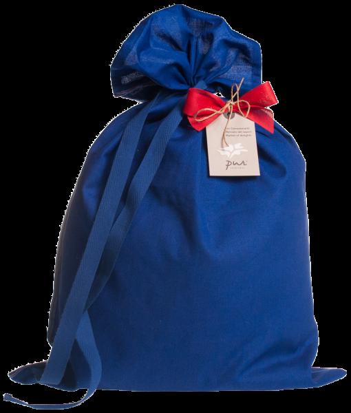 Borsa in stoffa di grembiule blu - Pur Südtirol