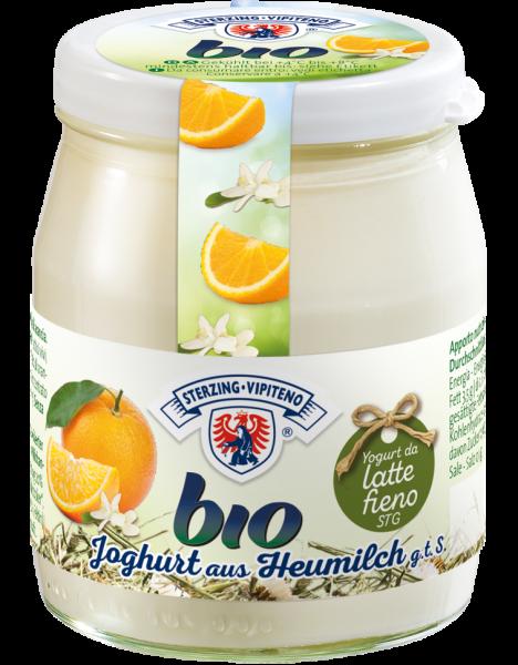 Orange Vollmilchjoghurt aus Heumilch Bio - Milchhof Sterzing