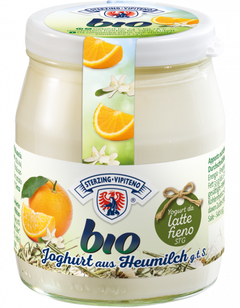 Arancia Yogurt intero al latte fieno Bio - Milchhof Sterzing
