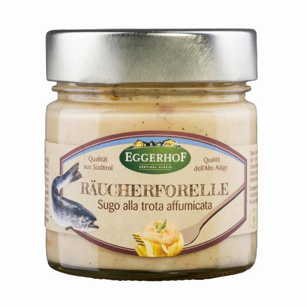 Sauce mit Räucherforelle - Eggerhof