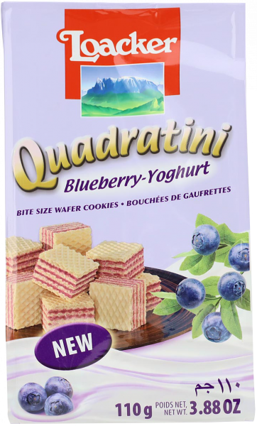Quadratini Mirtillo Nero-Yogurt - Loacker