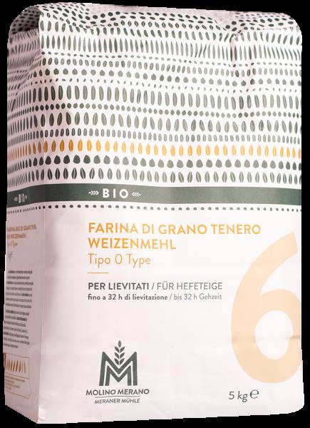 Farina di grano tenero nr. 6 tipo 0 Bio - Meraner Mühle