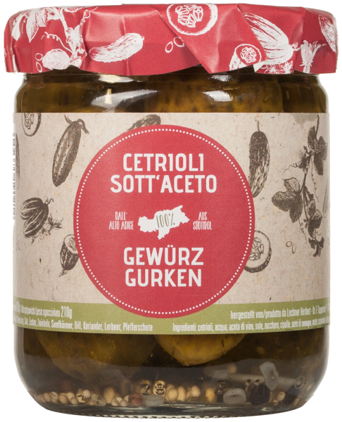 Cetrioli sott'aceto dell'Alto Adige - Lechner Herbert