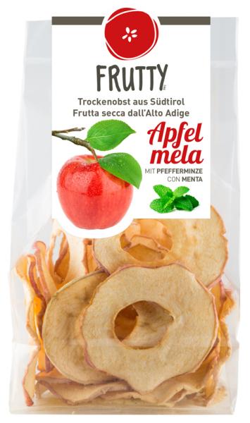 Getrocknete Äpfel mit Minze