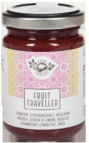 Erdbeere, Zitronenschale, Basilikum Fruit Traveller Fruchtaufstrich
