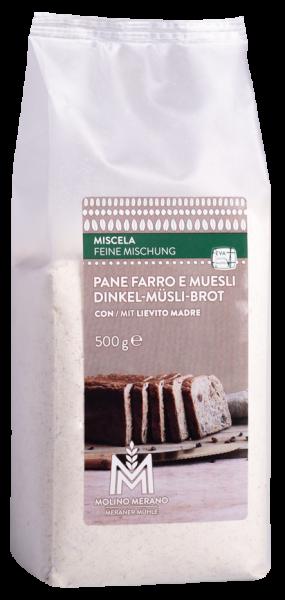 Dinkel-Müsli Brot Backmischung - Meraner Mühle