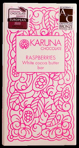 Cioccolato bianco con lamponi - Karuna