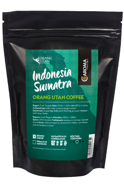 "Kaffee Arabica ""Indonesia Sumatra Orang Utan"" Bohnen"