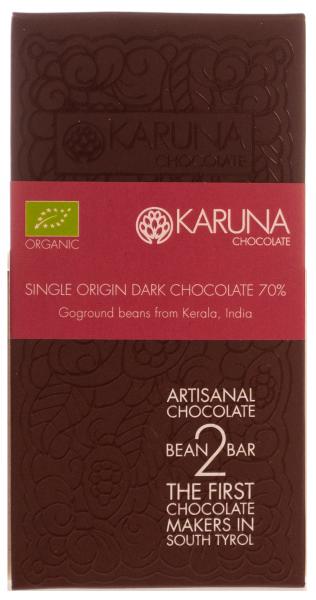 Schokolade 70 % Single Origin India Bio - Karuna