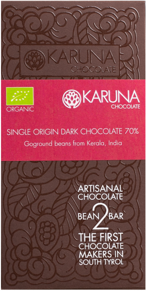 Cioccolato 70 % Single Origin India Bio - Karuna