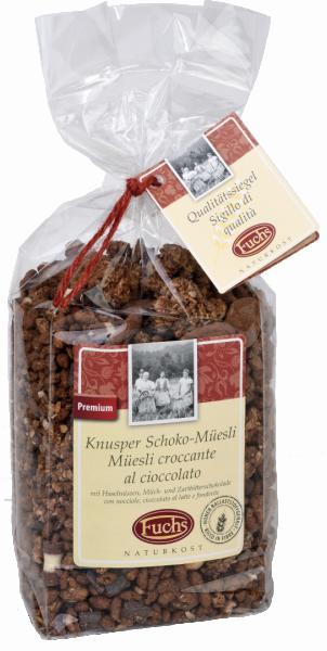 Knusper Müsli Schokolade Haselnuss - Fuchs Privatmühle