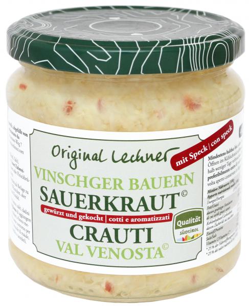 Vinschger Sauerkraut mit Speck
