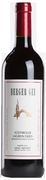 """Lagrein Gries Riserva """"Berger Gei"""" 2015"""
