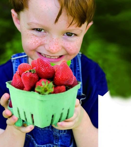 Kind-mit-Erdbeeren